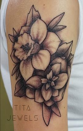 Flowers tattoo by Tita Jewels