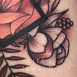 Rose in Rectangle CLOSEUP by Tita Jewels