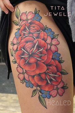 Rose Bouquet tattoo by Tita Jewels