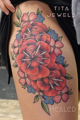 Rose Bouquet tattoo by Tita Jewels