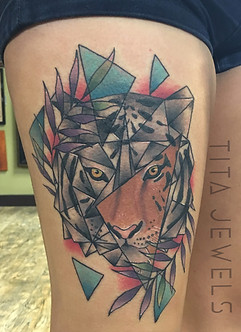 Geo Tiger Tattoo by Tita Jewels