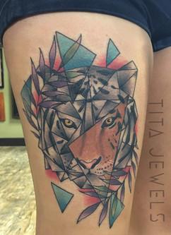 Geo Tiger Tattoo by Tita Jewels