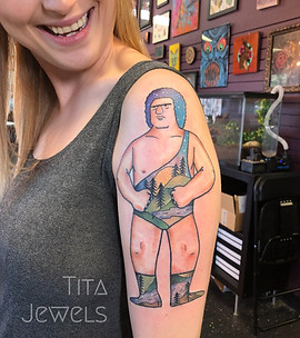 Andre the Giant tattoo by Tita Jewels