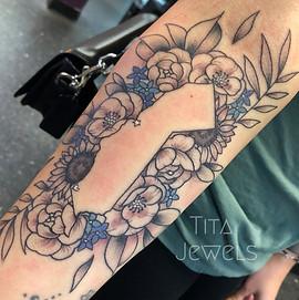 California Floral tattoo by Tita Jewels