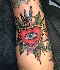 Sacred Heart Eye tattoo by Tita Jewels