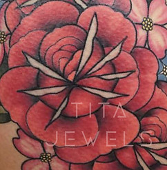 Rose Bouquet Tattoo CLOSEUP by Tita Jewels