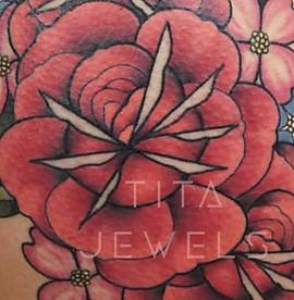 Rose Bouquet Tattoo CLOSEUP by Tita Jewels