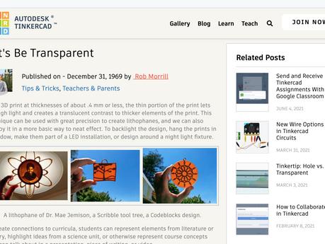 Let's Be Transparent