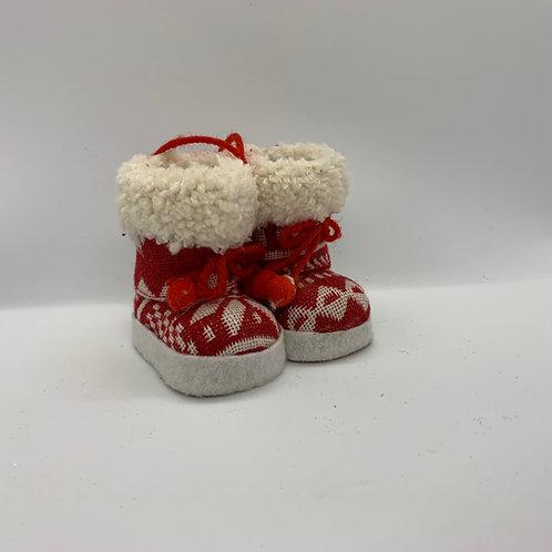 Ornement des fêtes bottes rouges