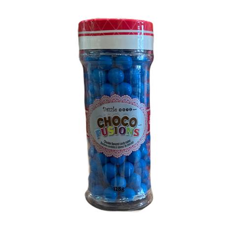 perles intérieurs chocolat bleues