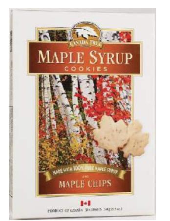 Biscuits sablés au pépites de sucre d'érable Canada True