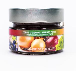 Confit d'oignons, raisin et porto Domaine de Correlieu