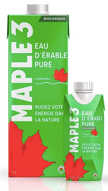 Eau d'érable pure Maple 3