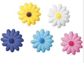 Décorations fleurs en sucre