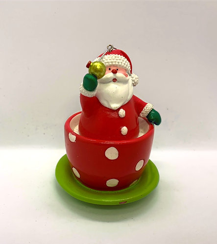Ornement de Noël Père Noël tasse