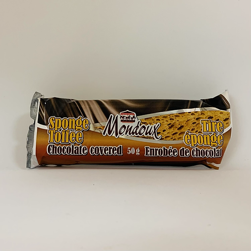 Tire éponge enrobée de chocolat au lait