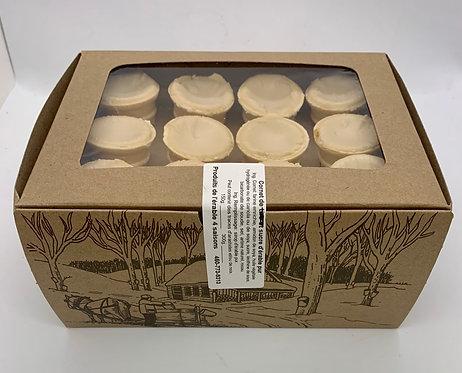 Boîte de 12 cornets de beurre d'érable
