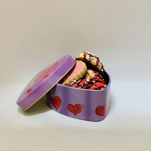Boîte de 8 biscuits St-Valentin