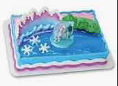 Gâteau La Reine des Neiges Décopac