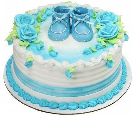 Gâteau Bottines bébé garçon Décopac