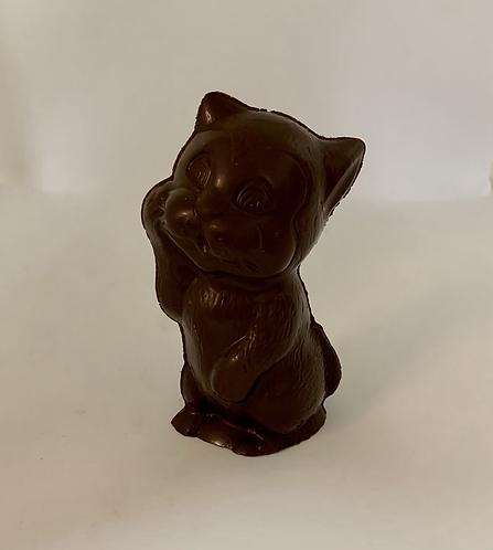 Chat en chocolat belge noir sans lactose