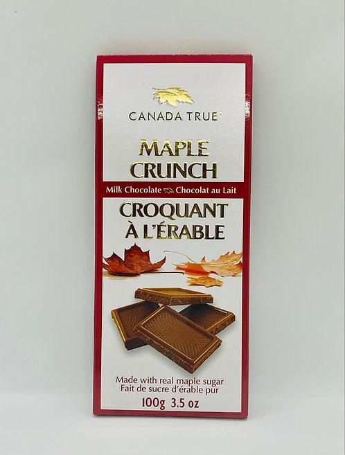 Chocolat au lait croquant à l'érable Canada True
