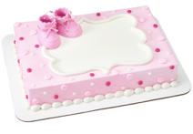 Gâteau bottines bébé fille, Baptême, shower fille(Cueillette en magasin)