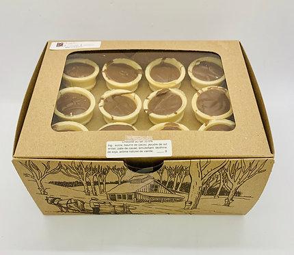 Boîte de 12 cornets de chocolat belge au lait