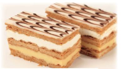 Mille-feuille crème pâtissière et crème 35%, Pâtisserie individuelle