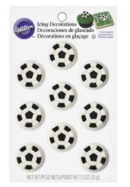 Ballons de soccer en sucre, décoration