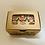 Thumbnail:  Boîte de 6 cornets de chocolat belge au lait St-Valentin