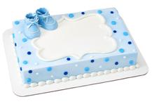 Gâteau bottines bébé garçon Décopac(Cueillette en magasin)