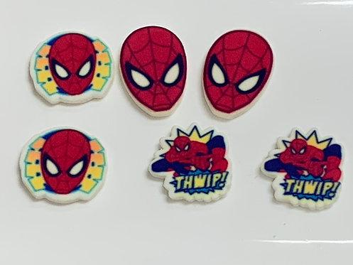 Décoration de gâteau Spiderman en sucre