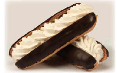 éclair crème 35%, Pâtisserie individuelle (Cueillette en magasin)
