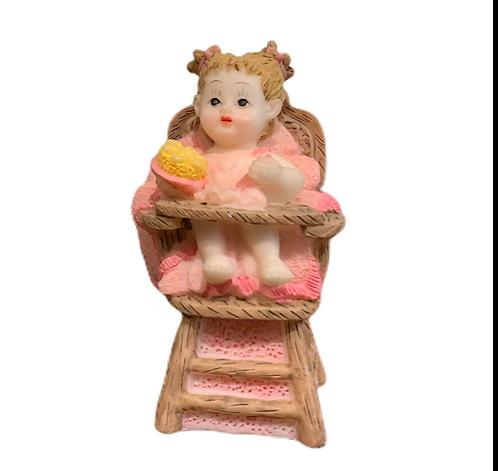 décoration gâteau bébé fille