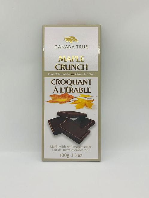 Chocolat noir croquant à l'érable Canada True