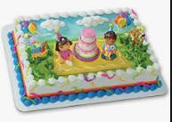 Gâteau décopac Dora L'exploratrice et Diego (Cueillette en magasin)
