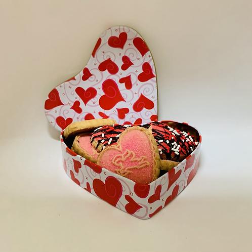 Boîte de 12 biscuits de St-Valentin