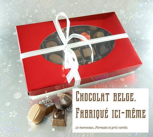 Chocolats variés. (boîte de 20 morceaux