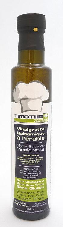 vinaigrette balsamique à l'ail et à l'érable