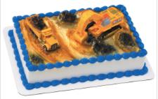 Gâteau Pelle mécanique et camion Décopac