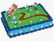 Gâteau Les schtroumpfs (Cueillette en magasin)