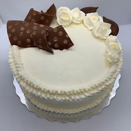 gâteau crème au beurre pâte chocolat (Cueillette en magasin)