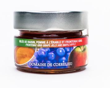 Gelée de raisin, pomme à l'érable et Frontenac gris Domaine de Correl