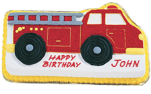 Moule à gâteau Camion pompier  #91(Cueillette en magasin)