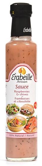 Sauce framboises et ciboulette Érabeille