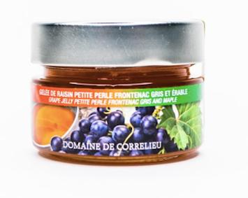 Gelée de raisin petite perle Frontenac gris et érable Domaine de Correlieu