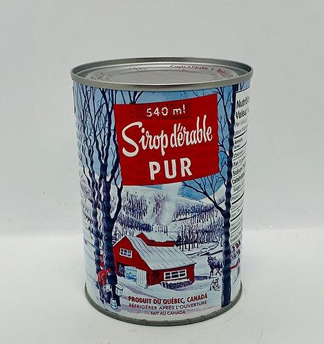 Contenant de sirop d'érable pur 540 ml
