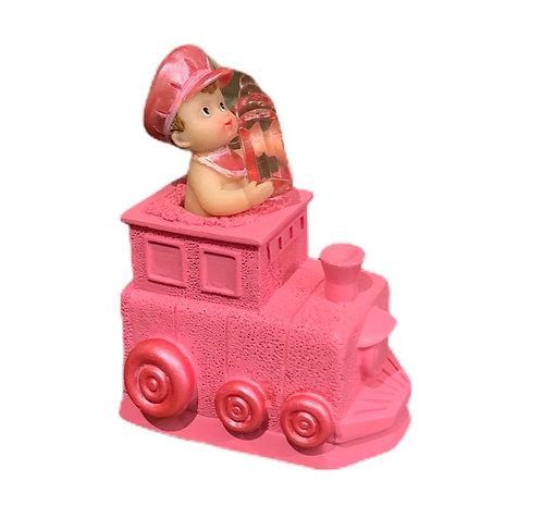 Bébé fille locomotive décoration pour gâteau