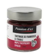 Copie de Tartinade de framboises à l'érable Passion d'ici 212 ml